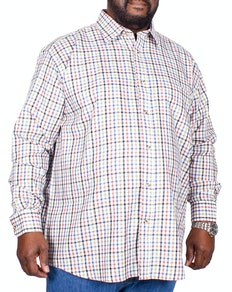 Cotton Valley County Check Long Sleeve Shirt Cream