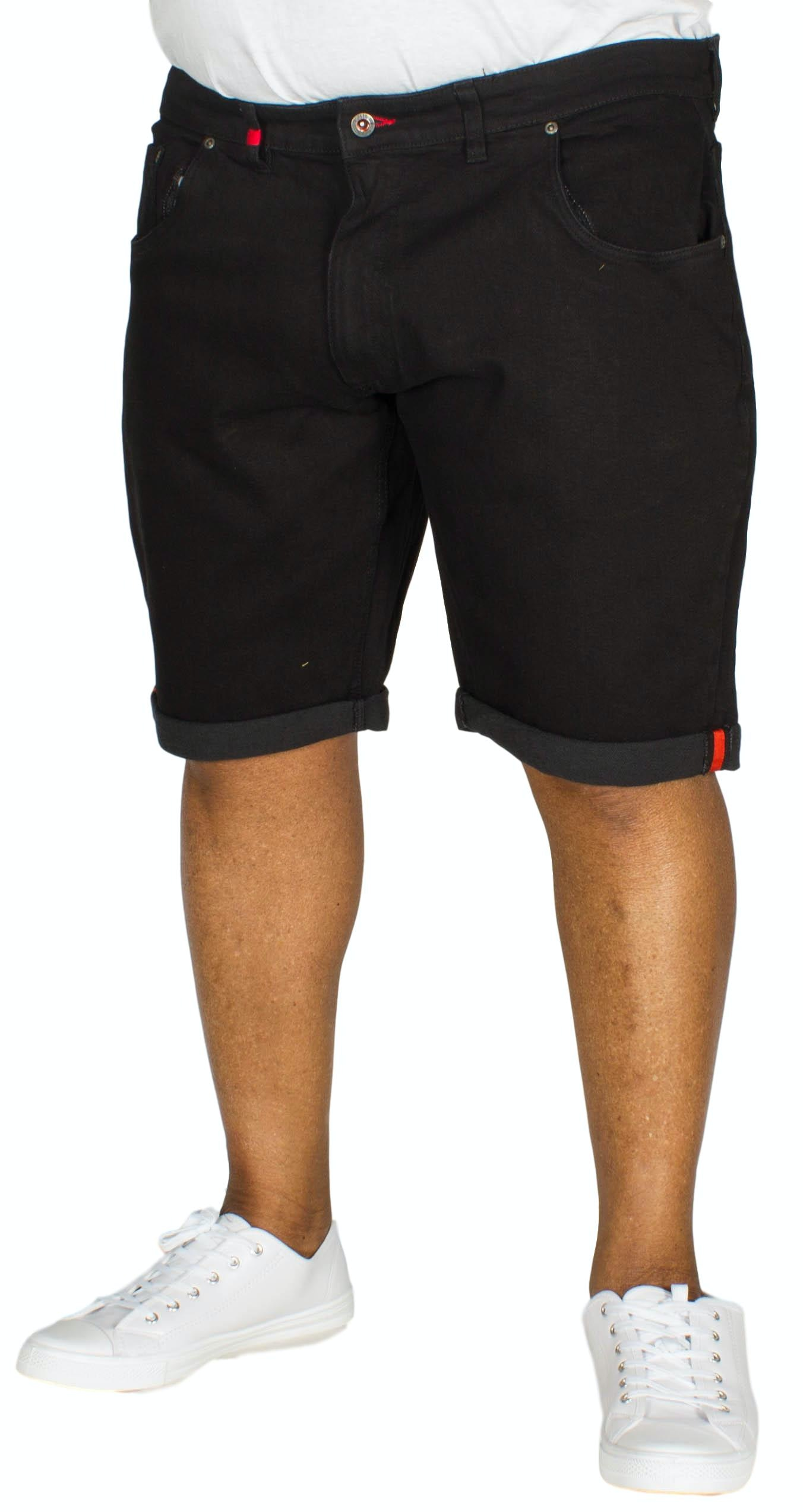 D555 Jude Stretch Denim Shorts Black