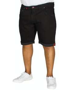D555 Jude Stretch Denim Shorts Black
