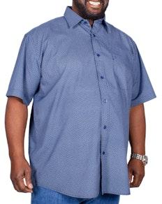 Cotton Valley Short Sleeve Circle Print Shirt Navy