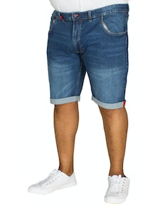 D555 Nate Stretch Denim Shorts Blue
