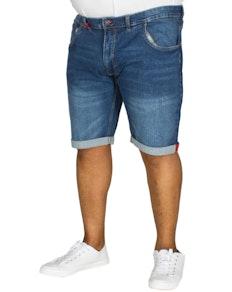 D555 Nate Stretch Denim Shorts Blue