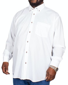 Cotton Valley Long Sleeve Contrast Trim Shirt White
