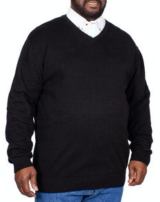 Espionage V-Neck Knitted Jumper Black