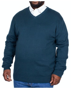 Espionage V-Neck Knitted Jumper Teal
