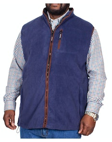 Metaphor Full Zip Fleece Gilet Navy