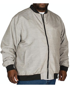 D555 Lined Textured Bomber Jacket Grey
