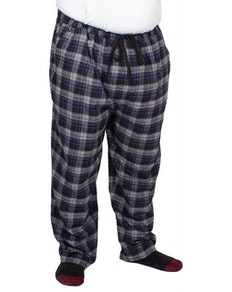 Espionage Brushed Check Lounge Trousers Grey