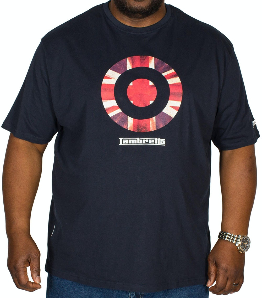 Lambretta Union Jack Print T-Shirt Navy Tall