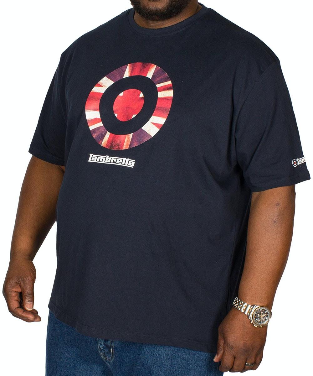 Lambretta Union Jack Print T-Shirt Navy