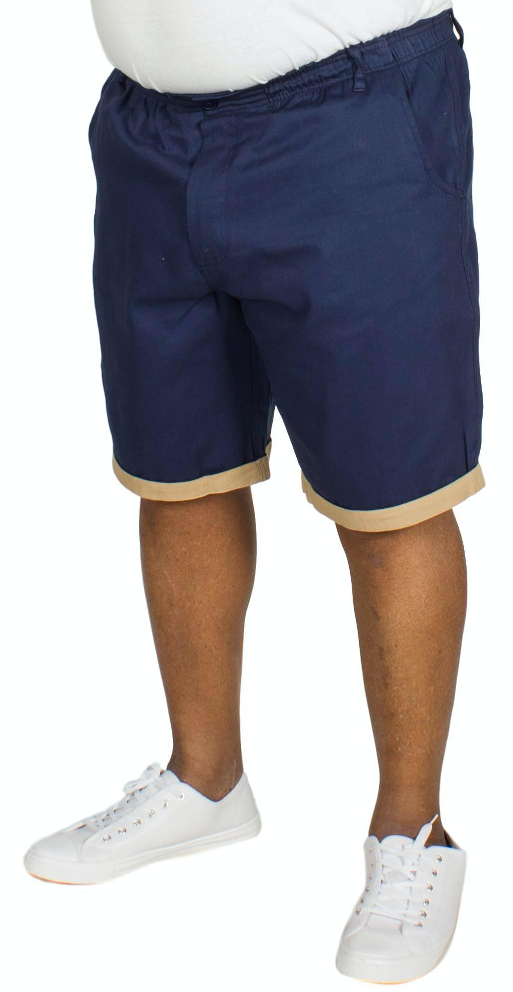 Bigdude Elasticated Waist Chino Shorts Navy