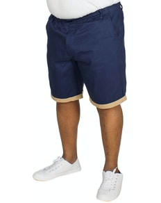 Bigdude Elasticated Waist Chino Shorts Navy