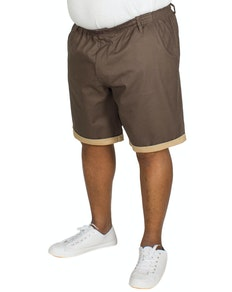 Bigdude Elasticated Waist Chino Shorts Grey