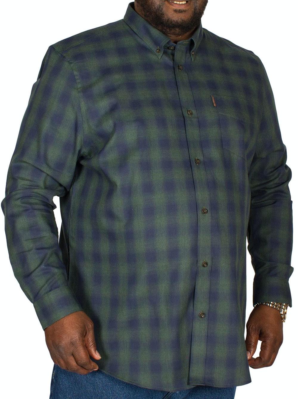 Ben Sherman Ombre Check Shirt Green
