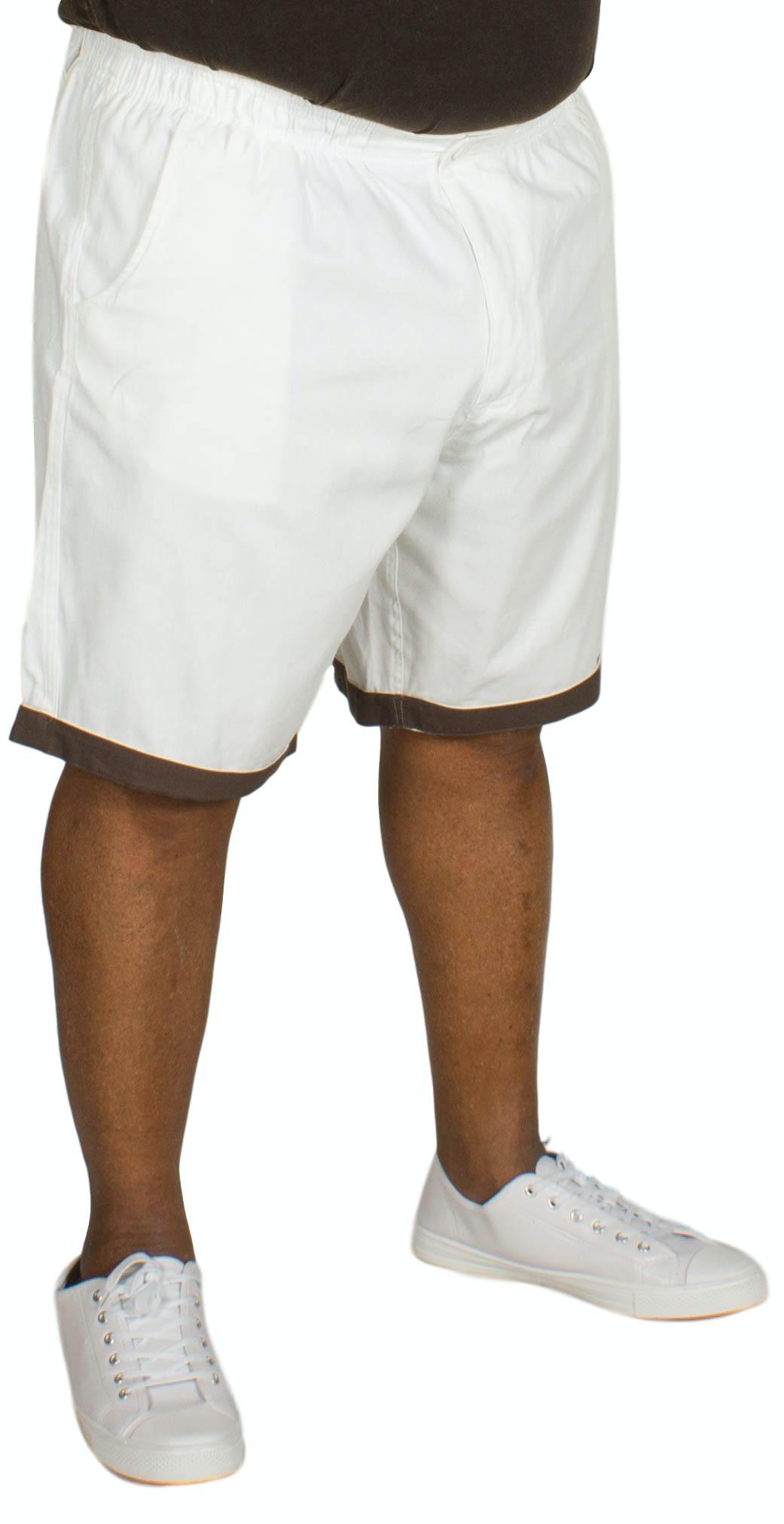 Bigdude Elasticated Waist Chino Shorts White
