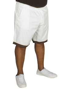 Bigdude Elasticated Waist Chino Shorts White
