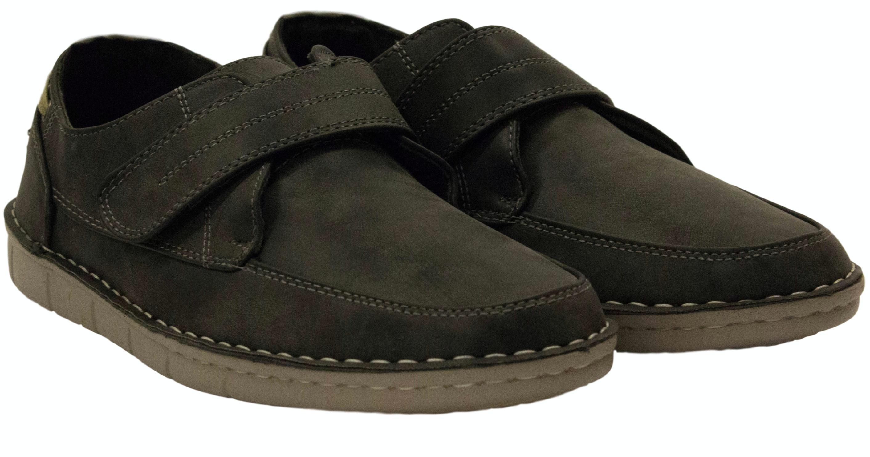 Dr Keller Robson Moccasin Velcro Shoe Black