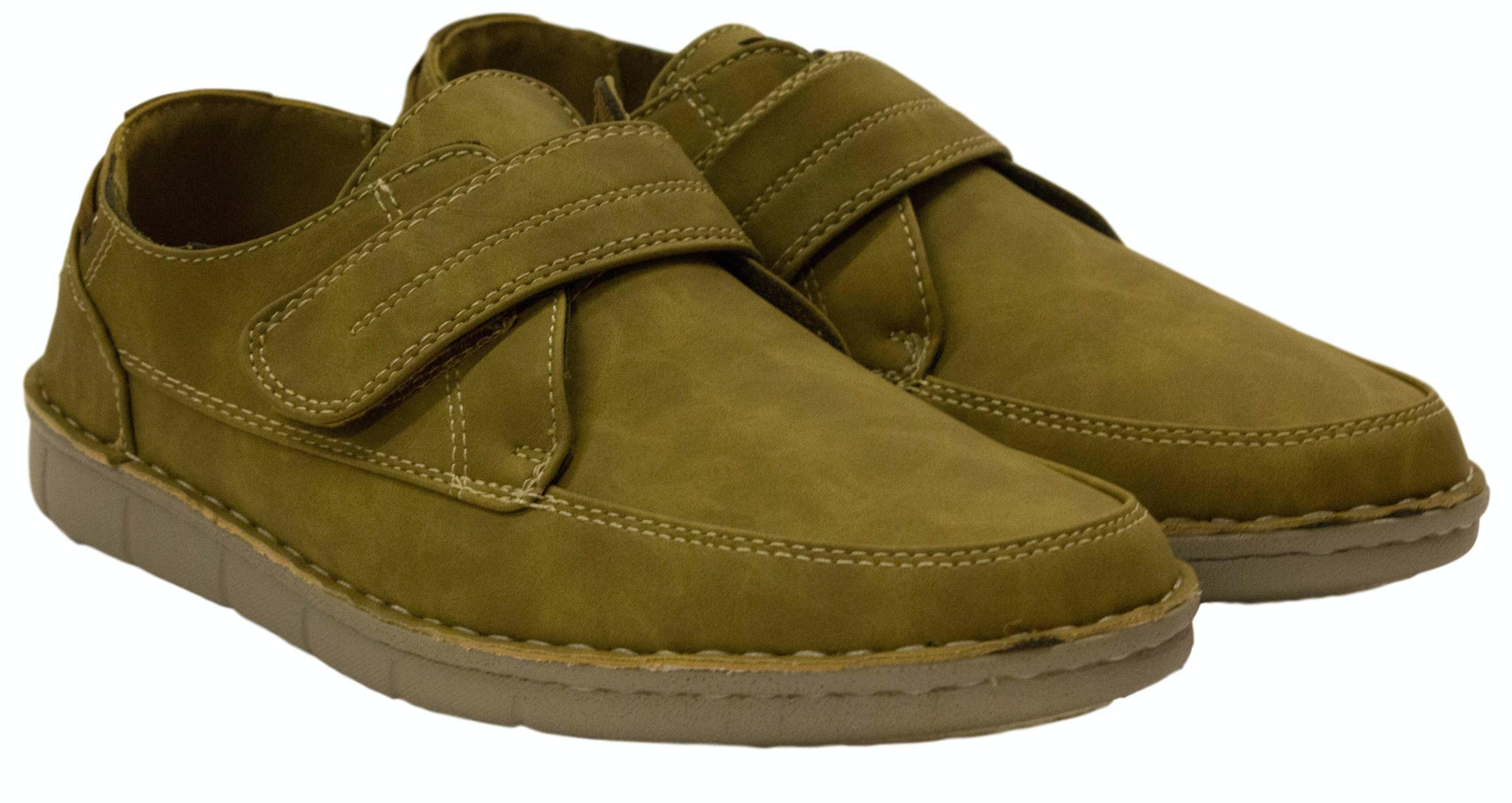 Dr Keller Robson Moccasin Velcro Shoe Tan
