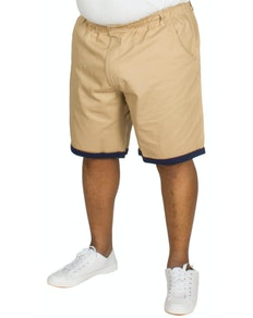 Bigdude Elasticated Waist Chino Shorts Sand