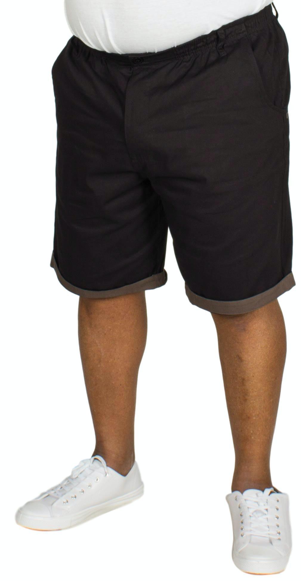 Bigdude Elasticated Waist Chino Shorts Black