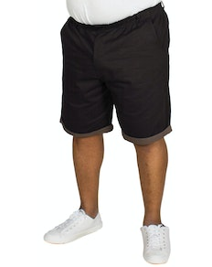 Bigdude Elasticated Waist Chino Shorts Black