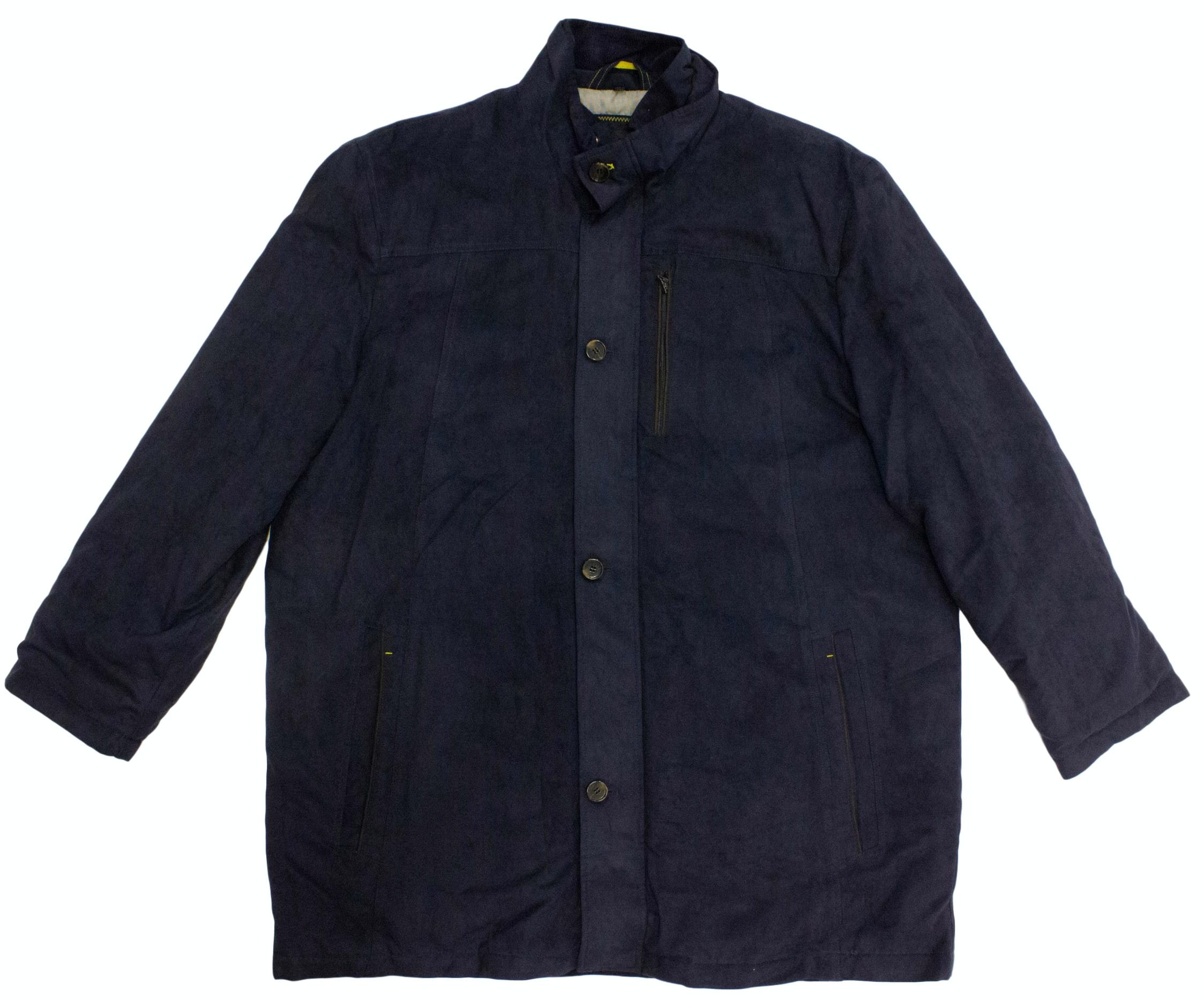 Erla Of Sweden Quilted Suede Jacket Navy