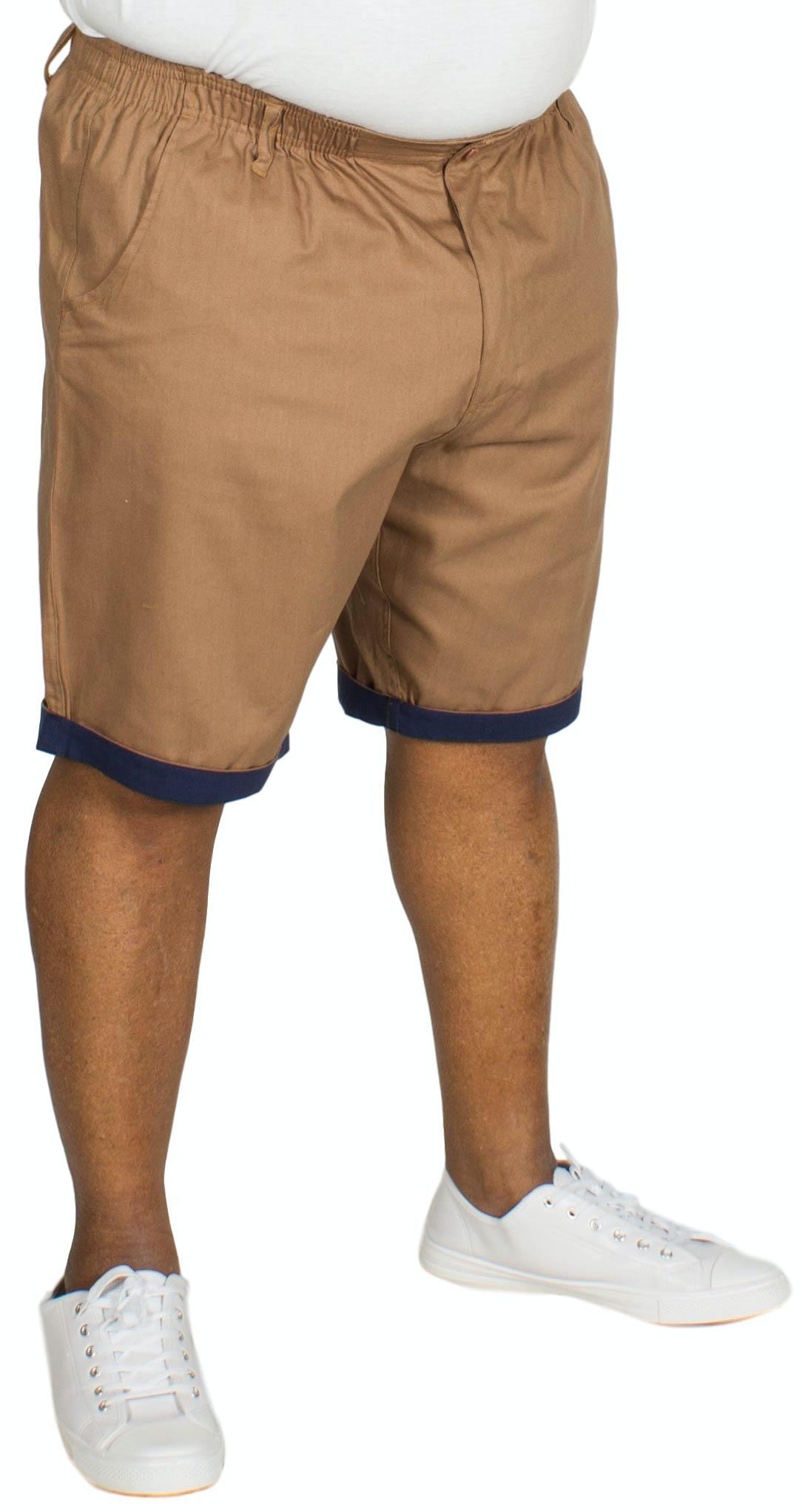 Bigdude Elasticated Waist Chino Shorts Brown