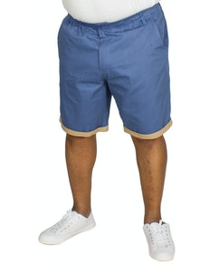 Bigdude Elasticated Waist Chino Shorts Blue