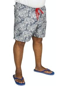 Replika Leaf Printed Swim Shorts Navy
