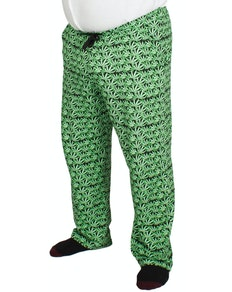 Bigdude Baggy Lounge Trousers Leaf Print
