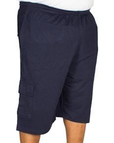 KAM Jersey Cargo Shorts Navy