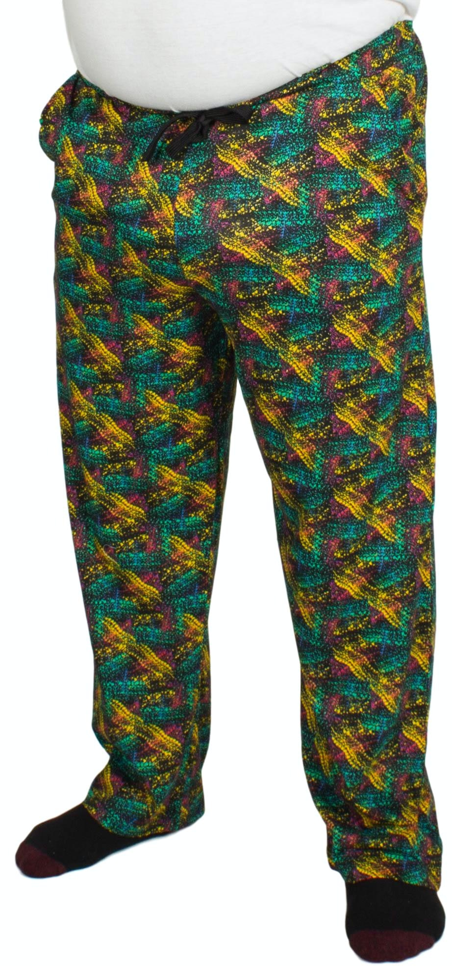 Bigdude Baggy Lounge Trousers Abstract Print