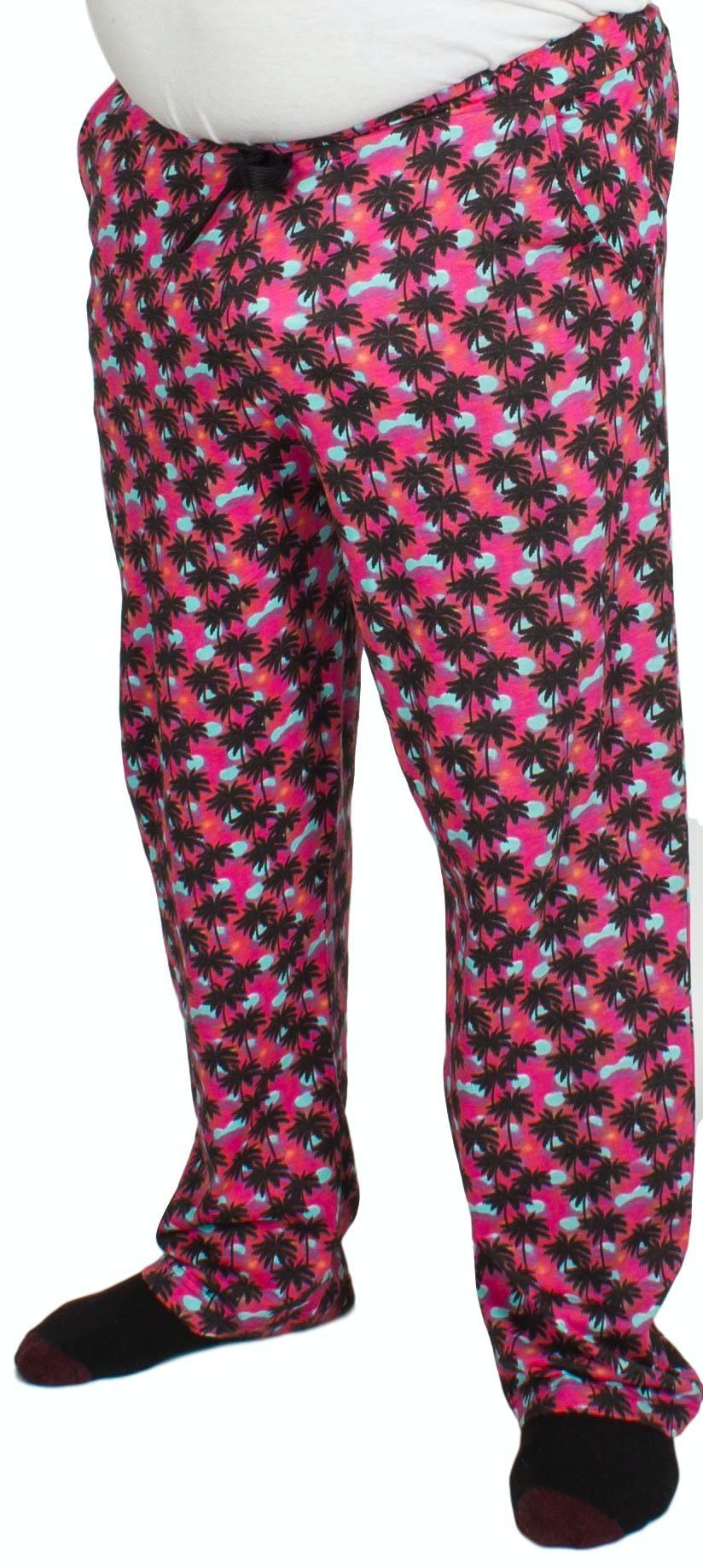 Bigdude Baggy Lounge Trousers Palm Print