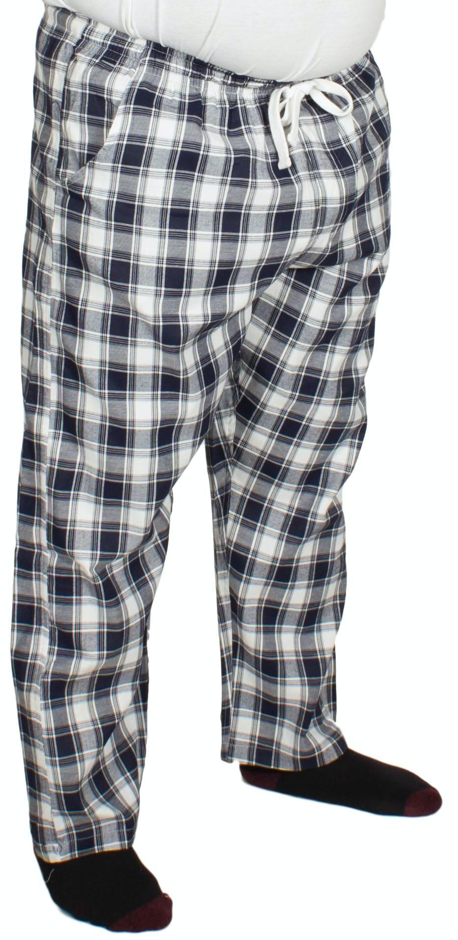 Bigdude Check Lounge Pants Navy/White