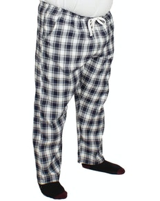 Bigdude Check Lounge Pants Navy/White