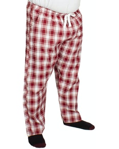 Bigdude Check Lounge Pants Red/White