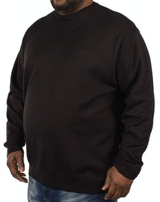 KAM Long Sleeved Crew Neck Knit - Black