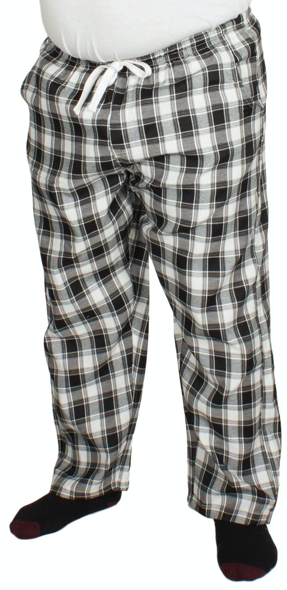 Bigdude Check Lounge Pants Black/White