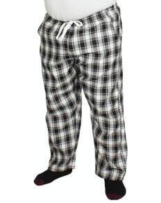 Bigdude Check Lounge Pants Black/White