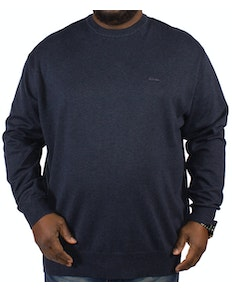 KAM Long Sleeved Crew Neck Knit - Denim