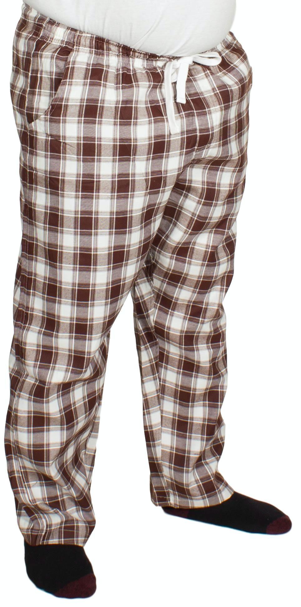 Bigdude Check Lounge Pants Brown/White