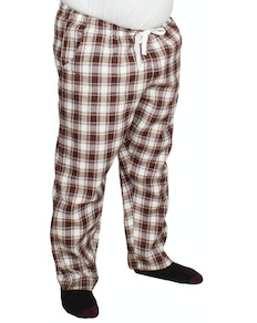 Bigdude Check Lounge Pants Brown/White