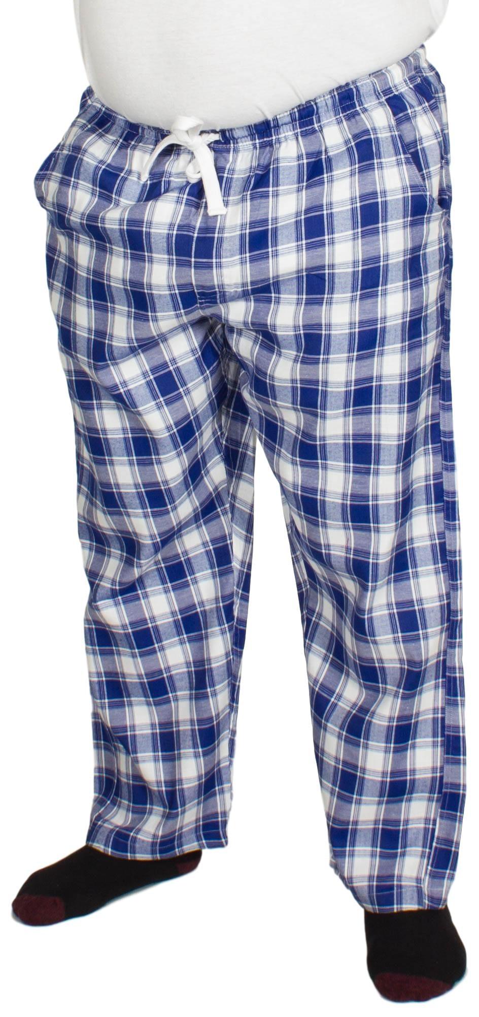 Bigdude Check Lounge Pants Blue/White