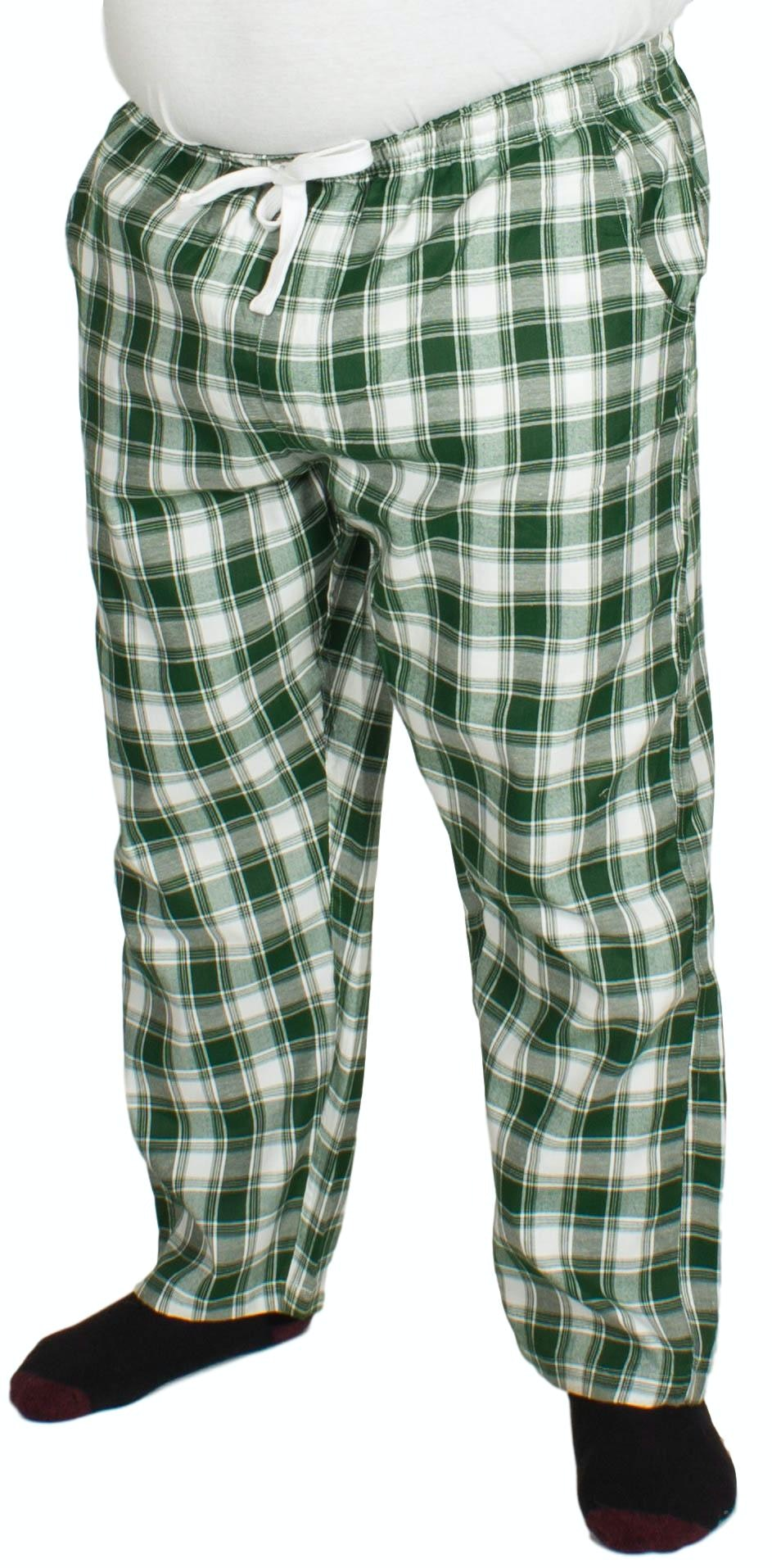 Bigdude Check Lounge Pants Green/White