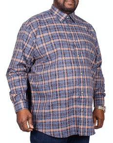 Cotton Valley Twill Check Long Sleeve Shirt Black/Tan