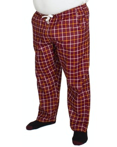 Bigdude Modern Check Lounge Pants Burgundy/Orange