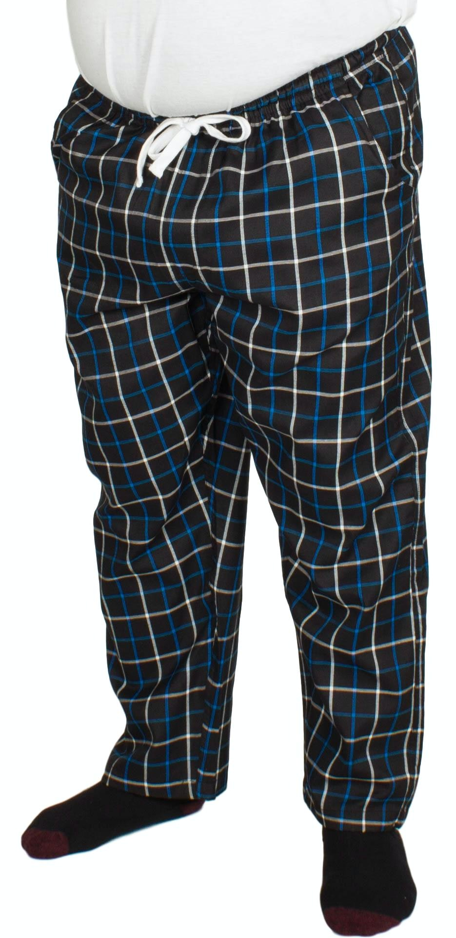 Bigdude Modern Check Lounge Pants Black/Blue