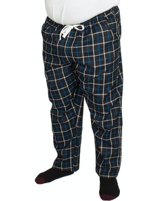 Bigdude Modern Check Lounge Pants Black/Blue
