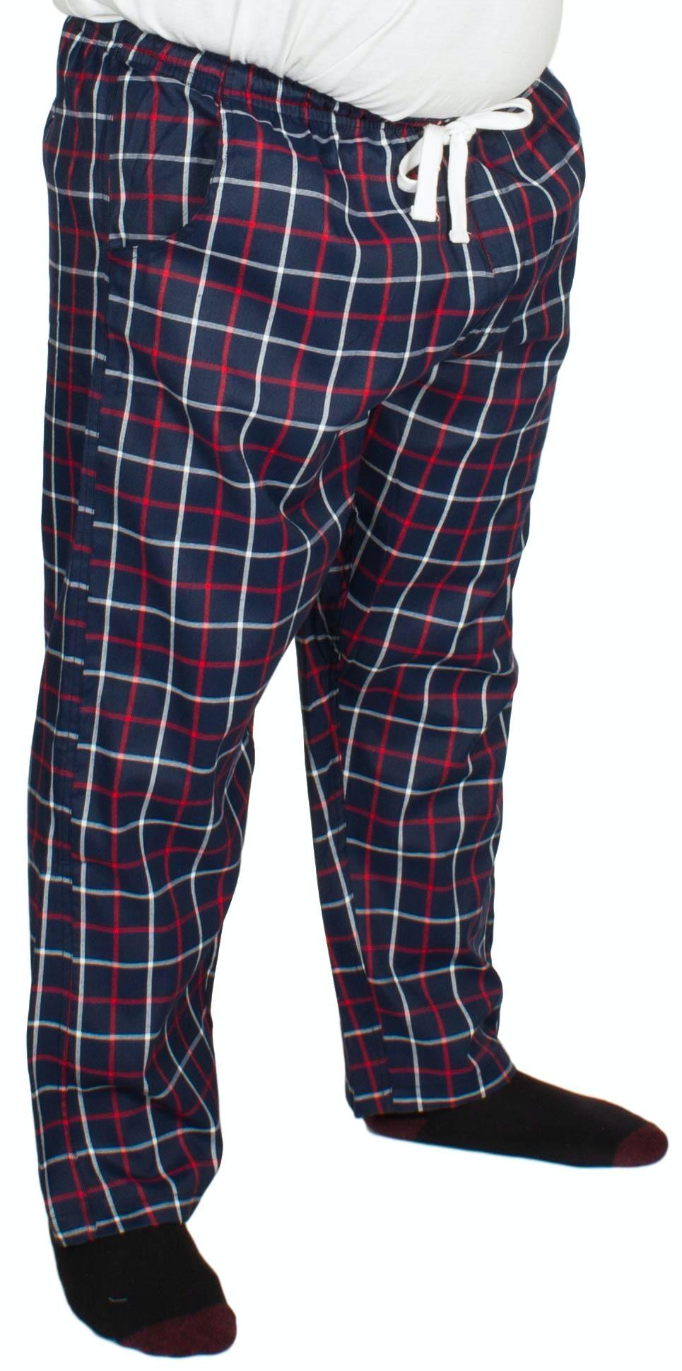 Bigdude Modern Check Lounge Pants Navy/Red