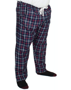 Bigdude Modern Check Lounge Pants Navy/Red